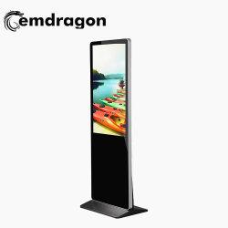 """55"""" quiosque de Chão super fino leitor de placa do visor digital de vídeo de tela sensível ao toque da tela da TV LED de Publicidade Tudo em Um"""