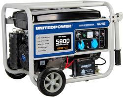 1kw, 2kw, 3kw, 4kw, 5kw, 6kw Elektrische en Luchtgekoelde AC van het Begin van de Hand Enige en In drie stadia Macht en de Draagbare Generator van de Benzine met de Uitrusting van het Wiel