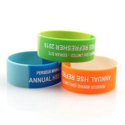 Promoção da Pulseira de Silicone personalizada personalizada bracelete de borracha com logotipo