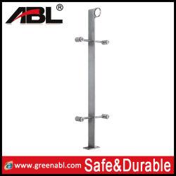 Raccord de verre main courante en acier inoxydable de rampe d'escalier piquet de clôture