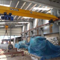 10 de Enige Balk van de Kraan van de Brug van de Workshop van de Reizende Kraan van de Brug van de ton de LuchtKraan van 5 Ton