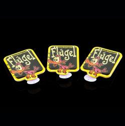 Etiqueta do Cliente Pino piscar a Luz do Corpo do LED do emblema distintivo da etiqueta de epóxi acender Ping Monograma Metal Promoção dons LED acenda Badge