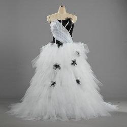 W386 unique robe de bal tulle noir et blanc pour mariage robes de mariée