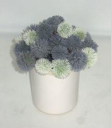 Реалистичные Allium Giganteum искусственные цветы герметизированное завода - белой керамической нагнетательного цилиндра