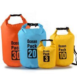 sacchetto asciutto impermeabile di marchio di 2L 3L 5L 8L 10L 15L 20L 30L 40L del poliestere del PVC del pacchetto esterno su ordinazione dell'oceano