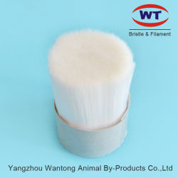 Sólido de color blanco Cepillo de filamentos de fibra cónica brocha