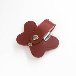 2019 선전용 선물 PU 가죽 USB 지팡이 Pendrive 주문 로고, 선전용 가죽 저속한 드라이브 열쇠 고리, 가죽