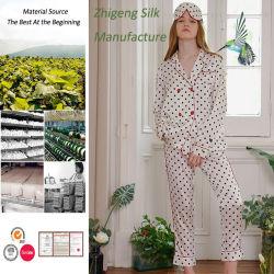 Soie personnalisée en usine Pajama 100% Soie de mûrier