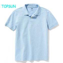 Los niños en blanco uniforme escolar chicos POLO MANGA CORTA Camiseta de algodón bordado de bebé ropa normal