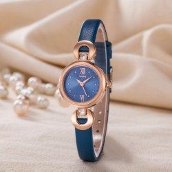 L'ODM Bracelet en cuir personnalisé Mesdames Quartz montre-bracelet classique (WY-P17011B)