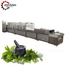 Duftende grüne schwarzer Tee-Kraut-Blätter, die trockenere Mikrowellen-trocknende Sterilisation-Maschine aufbereiten