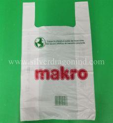Custom preço baixo plástico impresso Poli PE Sacola de Compras T-shirt Bag