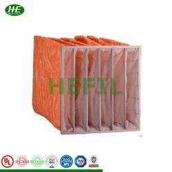 Sistema HVAC de fibras sintéticas secundário F5 Filtros de Ar de bolso