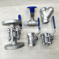 Verlorenes Wachsguss SS304 316 1/2/3 Stück Kugelventil/BSP/einfach/3-polig China Kundengebundene China-Hersteller-Präzisionsgießventil L / T / Flanschventil / Ventilkörper OEM