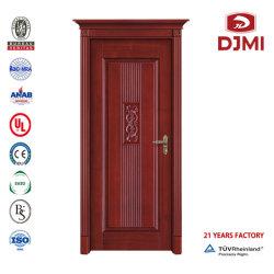 Puertas sólidas de alta calidad catálogo de diseños de madera interior dormitorio grabado con una puerta de madera