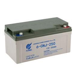 OEM 12V 250ah IP65 솔라 전력 저장 AGM 딥 사이클 밀폐형 납산 젤 배터리