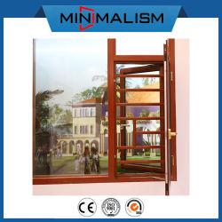 Het Openslaand raam van de Legering van het aluminium met Weerspiegelend Glas
