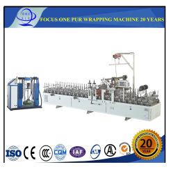 L'aluminium/PVC /pur film / papier/// de mélamine porte en bois Profil fondre la colle chaude 300/1300mm Largeur de la machine d'enrubannage Profil fabricant de machine d'enrubannage