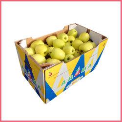 O logotipo personalizado de Papelão Ondulado impresso embalagem de papel de parede dupla embalagem de alimentos secos caixa de papelão de frutas e vegetais com janela de PVC
