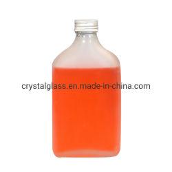 Bottiglia di vetro glassata stampa piana della bevanda della spremuta di marchio con il coperchio di alluminio 200ml 250ml 350ml