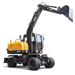 Les excavateurs à roues de machinerie de construction de petits Mini-excavatrice à roues de la machine de creusement