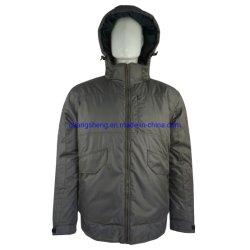 パッディングの人の屋外の冬のWorkwearのジャケットが付いている新しいデザインポリエステルジャカード防水ファブリック