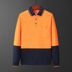 Fr20471 Men's extérieur en polyester coton respirant soutenu Workwear Hivis Polos réfléchissante