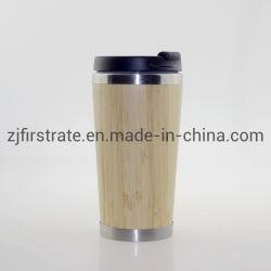 OEM Double Wall Auto Travel 머그잔 사용자 지정 로고 자연 대나무 커피 여행용 머그컵