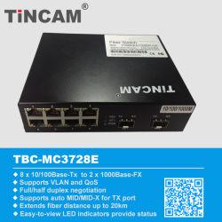 10/100/1000m de Base-TX+ 1 UTP de 8 puertos switch Ethernet de fibra de puerto