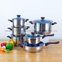 2021 Les nouveaux arrivants Ustensiles de cuisine 12 PCS Marmite Non-Stick Pan Ustensiles de cuisine en acier inoxydable ensemble avec poignée en bakélite