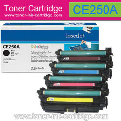 Cartouche couleur pour HP CE250A, CC251A, CC252A, CC253a