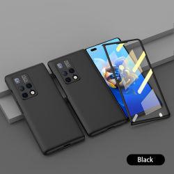 強化ガラス製ケース付きの新しいスリムフロントカバー、スムーズに折り曲げられます Huawei Mate X2 用の穴 PC 電話ケース