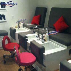 Muebles Sinoworld Pedicura Triple Banco con madera maciza pedicura presidente