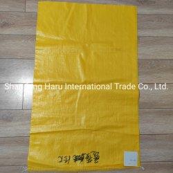 Fabrik Preis OEM 25kg 50kg Weiß Farbe Recycling Verpackung angepasst Logo Kunststoff Reis / Mehl / Futter / Dünger BOPP gewebte Beutel PP Gewebte Tasche