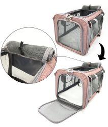 حقيبة ظهر حاملة للحيوانات الأليفة ملحقات حقيبة الكلاب من Cat توفر ملابس محمولة حامل الحيوانات الأليفة لطوق السفر الخارجي الذي يسمح بمرور الهواء والجمليّة قابل للتعديل