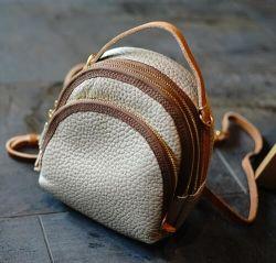 Form-rohes Rand-Kuh-Leder-Minischulter-Dame Bag