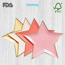 Одноразовые Логотип экологически безопасные Pentagram сторона пластины бумаги