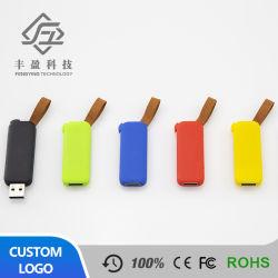 Moule en plastique ABS privé Logo personnalisé Pendrive lecteur Flash USB 4 Go avec surface en caoutchouc