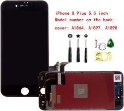 [موبيل فون] [لكد] لأنّ [إيفون] 8 فعليّة 5.5 بوصة [لكد] شاشة إستبدال يشبع محوّل قياسيّ رقميّ [أسّمبلي فرم] محدّد أموميّة زجاج [3د] لمس [لكد] عرض