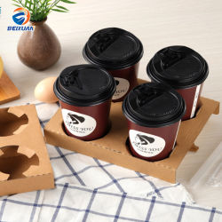 Одноразовые крафт-бумаги держатель для чашки вынос напитков кофе Подстаканник