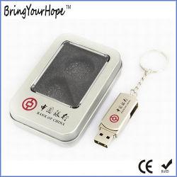 금속 상자 포장에 있는 회전대 금속 USB 섬광 드라이브 (XH-USB-154)