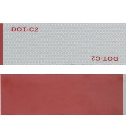 TID 2 インチ X 150 ドットクラス 2 反射テープ安全テープ赤 / 白接着セット