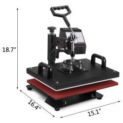 Vevor 12 x 15 pouces de la chaleur 5 en 1 Appuyez sur le contrôleur LCD numérique T Shirts Appuyez sur la conception de la chaleur de pivotement de la machine à l'écart Appuyez sur la machine Mug Sublimation Transfert Hat
