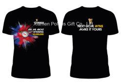 De Weerspiegelende Gloed van de staaf in de Donkere T-shirt van de Manier met Ronde Hals