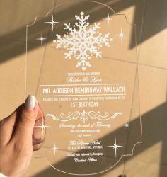 주문 쓰기 Laser에 의하여 잘리는 명확한 아크릴 결혼식 권유 카드