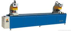 2機械にインライン溶接工Htw2-120をするPVCドアのWindowsのためのヘッド溶接機二重ヘッドUPVC溶接機