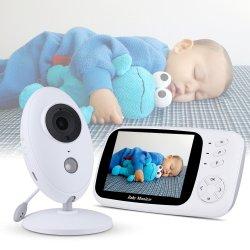 Baby Monitor de vídeo inalámbrica de 3,5 pulgadas de visión nocturna de la cámara de seguridad de la nana bebé duerma LCD control de temperatura de la cámara para bebés