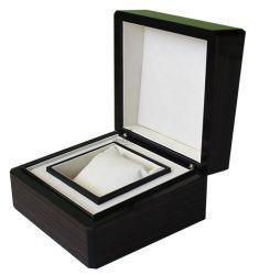 Casella impaccante dell'alta singola della vigilanza del regalo visualizzazione di legno lucida su ordinazione di lusso di memoria