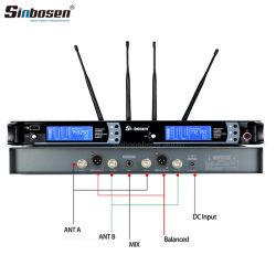 Système de karaoké Skm9000 de microphone sans fil UHF Microphone de studio professionnel