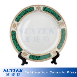 Unbelegte weiße keramische Sublimation-Platte mit Standplatz